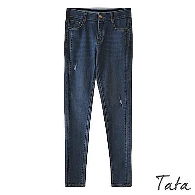 彈力鬆緊帶刷破牛仔褲 TATA