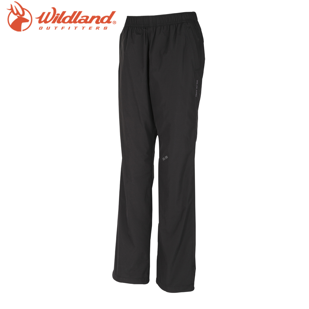 【Wildland 荒野】大尺碼女防風保暖長褲灰
