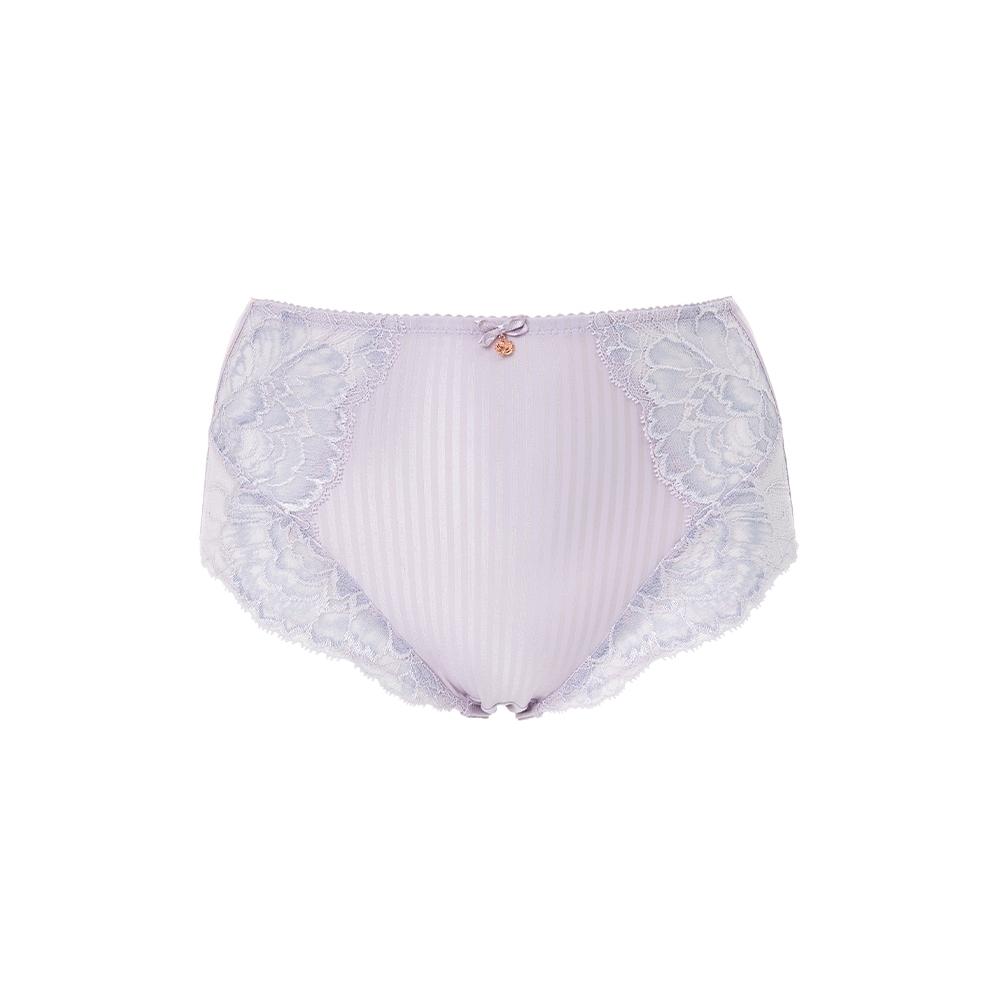 黛安芬-FLORALE邂逅牡丹系列 黎芭蕾絲包臀高腰三角內褲 M-EL 淺紫色