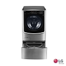 LG 21公斤+2.5公斤TWINWash 滾筒洗衣機 F2721HTTV 典雅銀
