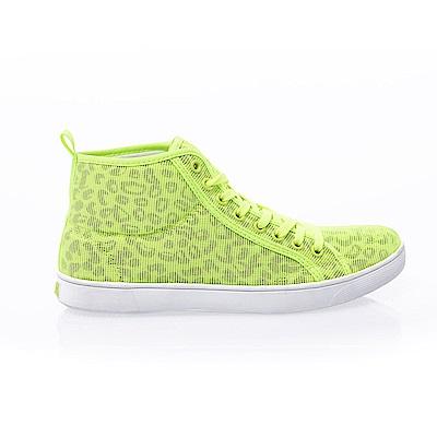 【AIRWALK】豹紋內增高鞋-螢光綠