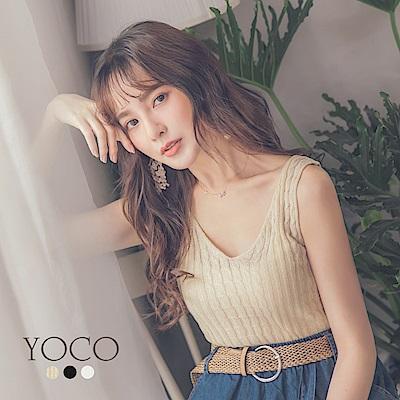 東京著衣-yoco 大V領多色百搭背心針織衫-S.M.L(共三色)