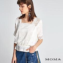 MOMA 拼接繡花蕾絲上衣