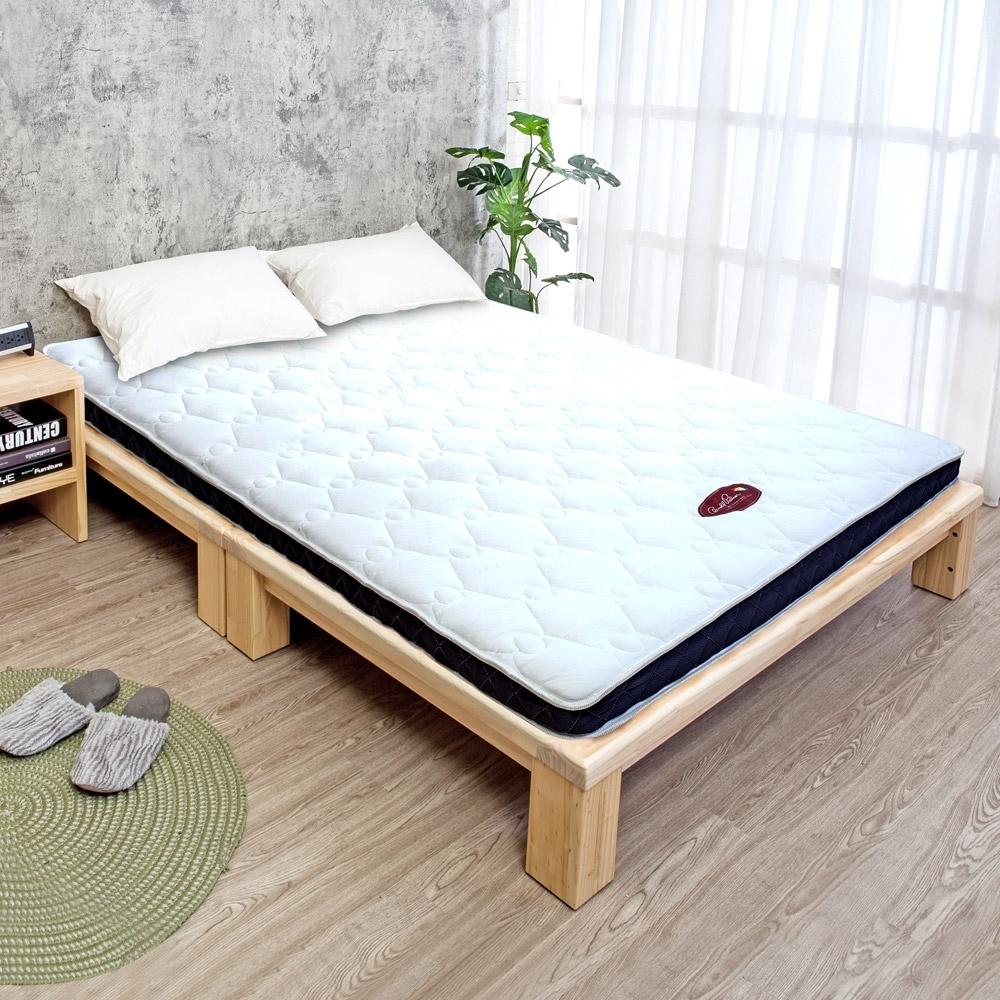 Boden-超薄型8cm獨立筒彈簧床墊-5尺雙人