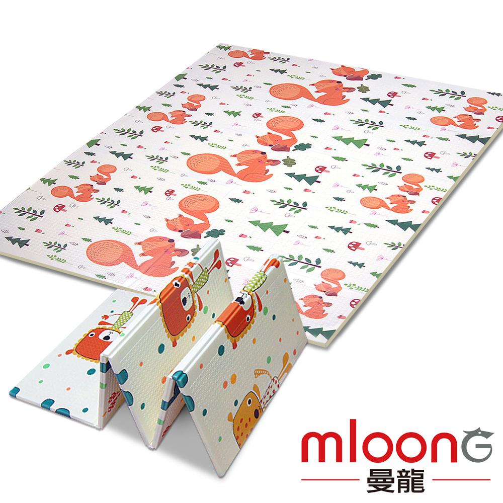 Mloong曼龍 XPE環保雙面折疊地墊 -大象松鼠 (爬行墊/摺疊墊/遊戲墊)