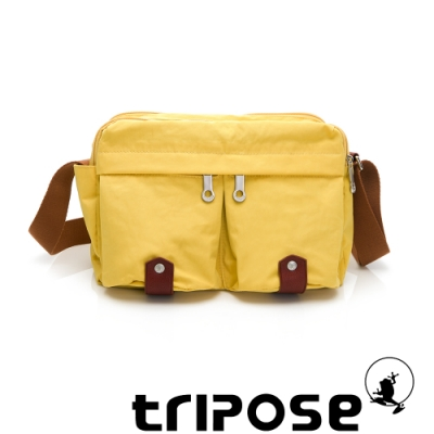 tripose MOVE系列多格層機能斜背包 活力黃