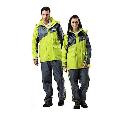 金德恩 達新牌 二件式反光條飛馳型套裝雨衣 L~3XL