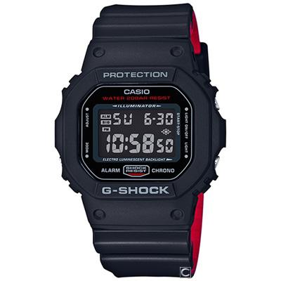 G-SHOCK 紅與黑視覺概念運動錶(DW-5600HR-1D)