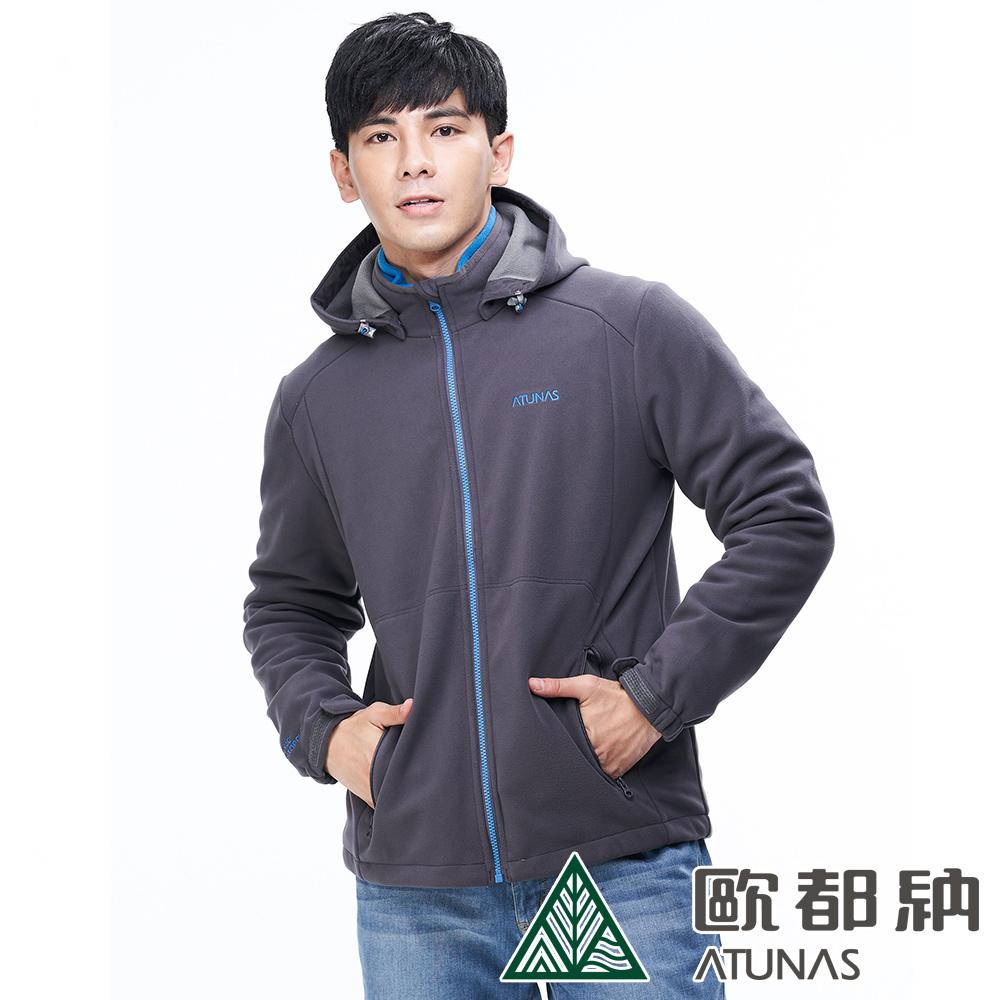 【ATUNAS 歐都納】男款WINDSTOPPER防風保暖外套A-G1815M深灰