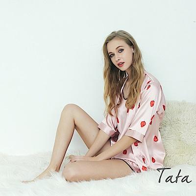 草莓印花三件式家居服 TATA