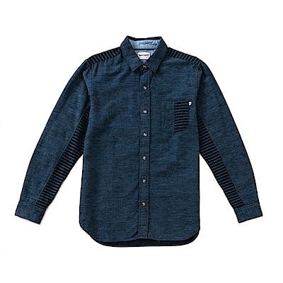 Timberland 男款靛藍混合色長袖襯衫 | A1NMHN46