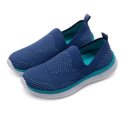 Easy Spirit-seSAVANA2 紡織布面透氣舒適休閒鞋-針織藍