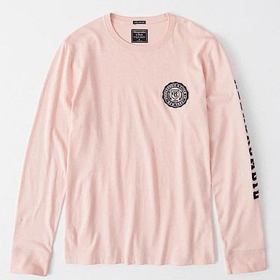 AF a&f Abercrombie & Fitch 長袖 T恤 粉色 0973