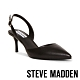 STEVE MADDEN-TISH 名媛推薦 後跟帶包趾細跟涼鞋-黑色 product thumbnail 1