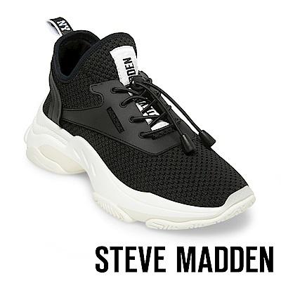 STEVE MADDEN-MATCH-LOGO素面增高休閒鞋-黑色