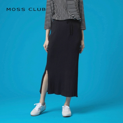 【MOSS CLUB】顯瘦開衩針織-長裙(三色)