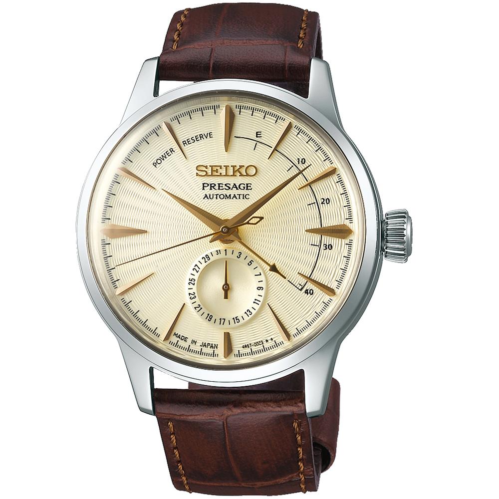 SEIKO精工Presage調酒師動力儲存顯示機械腕錶(SSA387J1)