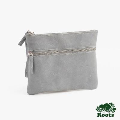 配件Roots-雙層拉鍊手拿包-灰色