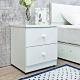 Birdie南亞塑鋼-1.5尺二抽塑鋼床頭櫃/抽屜收納櫃/置物櫃(白色)-46x43x55cm product thumbnail 1