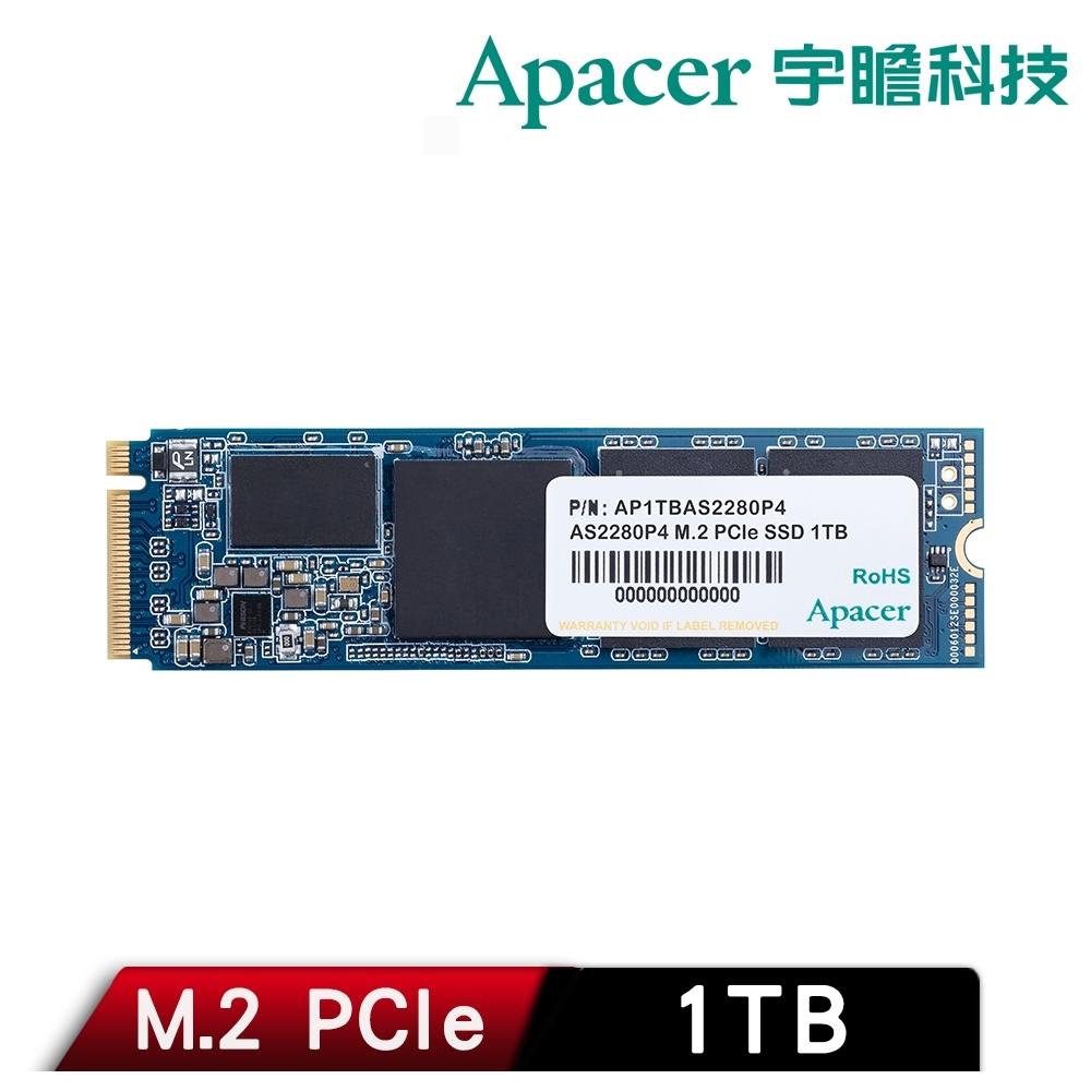 Apacer 宇瞻 AS2280P4 1TB M.2 PCIe Gen3 x4 SSD固態硬碟