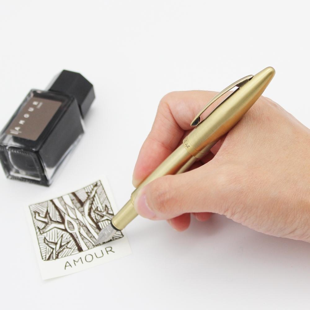ARTEX 開心黃銅鋼筆短鋼