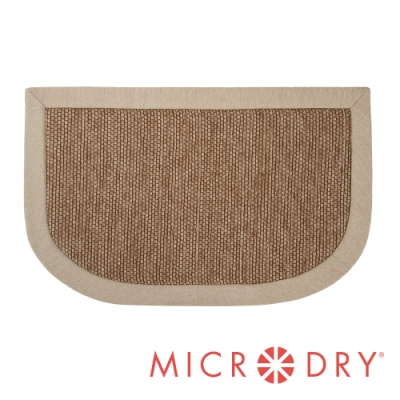 Microdry 時尚地墊 雙色舒適多功能地墊【亞麻色邊框/ F】