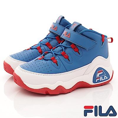 FILA頂級童鞋款 經典籃球鞋款 EI15R-312藍(中童段)0