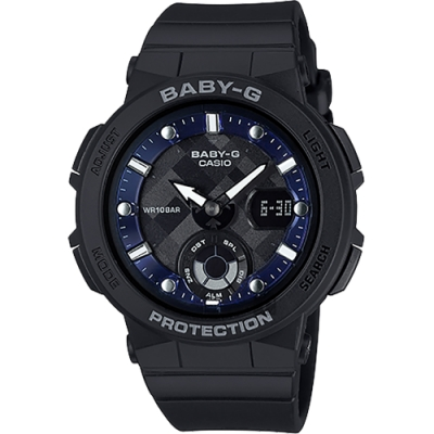 CASIO 卡西歐 BABY-G 海洋風格手錶(BGA-250-1A)