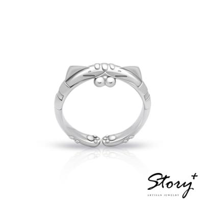 STORY故事銀飾-白爛貓經典系列-LanLan純銀戒指