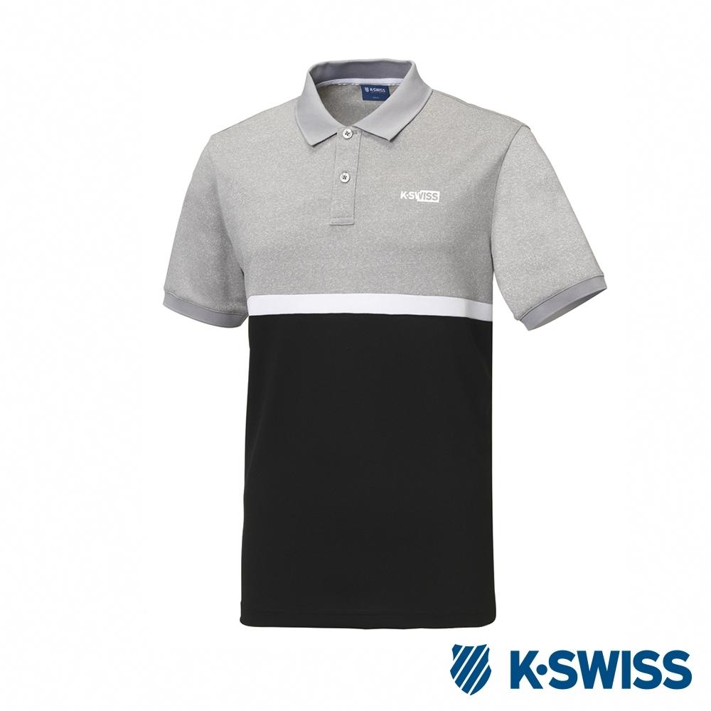 K-SWISS Polo韓版短袖Polo衫-男-灰