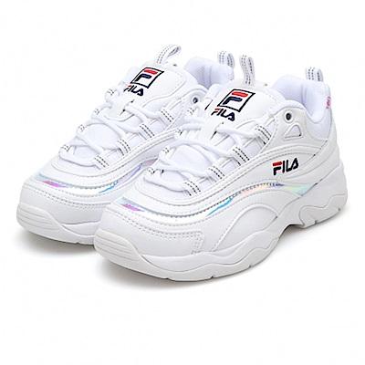 FILA RAY復古老爹鞋(男)-白