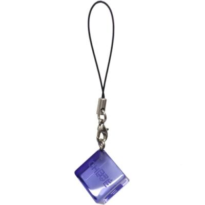 SEE BY CHLOE 品牌字母LOGO方塊圖騰手機吊飾(藍色系)