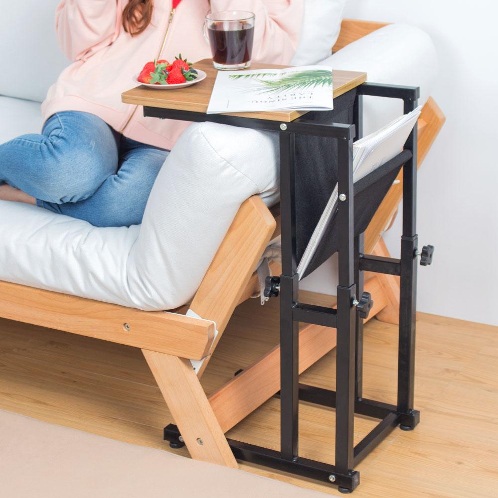 樂嫚妮 雜誌桌/升降沙發邊桌/茶几桌/咖啡桌-木紋