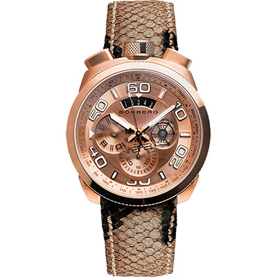 BOMBERG 炸彈錶 BOLT-68 石英計時碼錶-玫瑰金/45mm