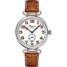 LONGINES浪琴 Heritage 1918 復刻小秒針機械錶-白x咖啡/38.5mm