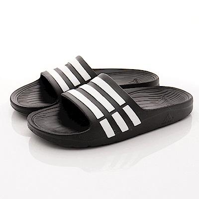 adidas童鞋 經典運動拖鞋 ZE6799黑(中大童段)