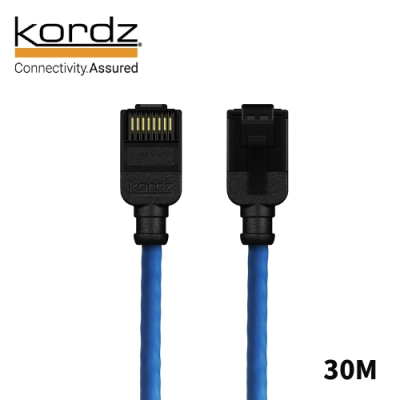 Kordz PRO CAT6 28AWG極細高速網路線 藍 30m