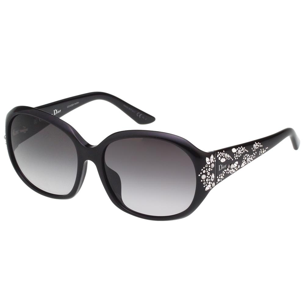 Dior 經典水鑽 太陽眼鏡(黑色)