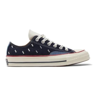 CONVERSE CHUCK 70 OX 低筒 休閒鞋 男女 丹寧牛仔 拼接 牛仔 深藍-171065C