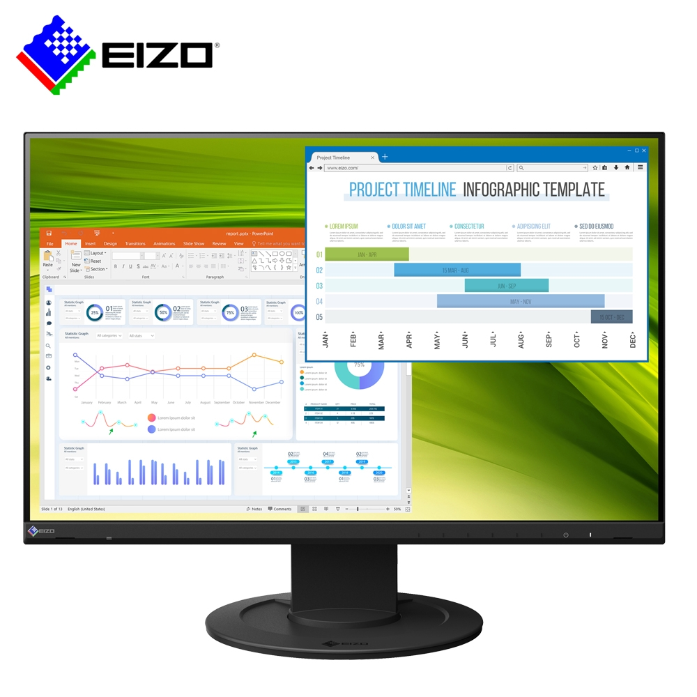 EIZO FlexScan EV2360 黑色 23型/低藍光低閃頻護眼/薄邊框