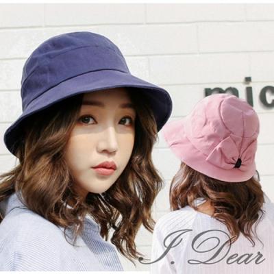 I.Dear-韓國小清新多層次後蝴蝶結防曬遮陽漁夫帽(4色)
