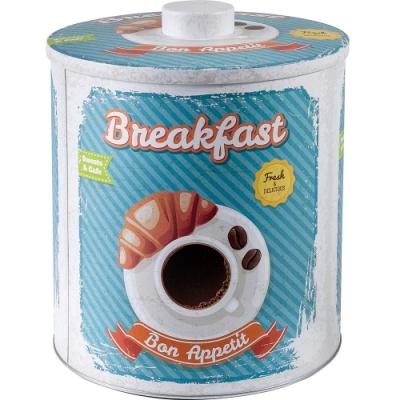 《IBILI》復古圓形繽紛收納罐(早餐)