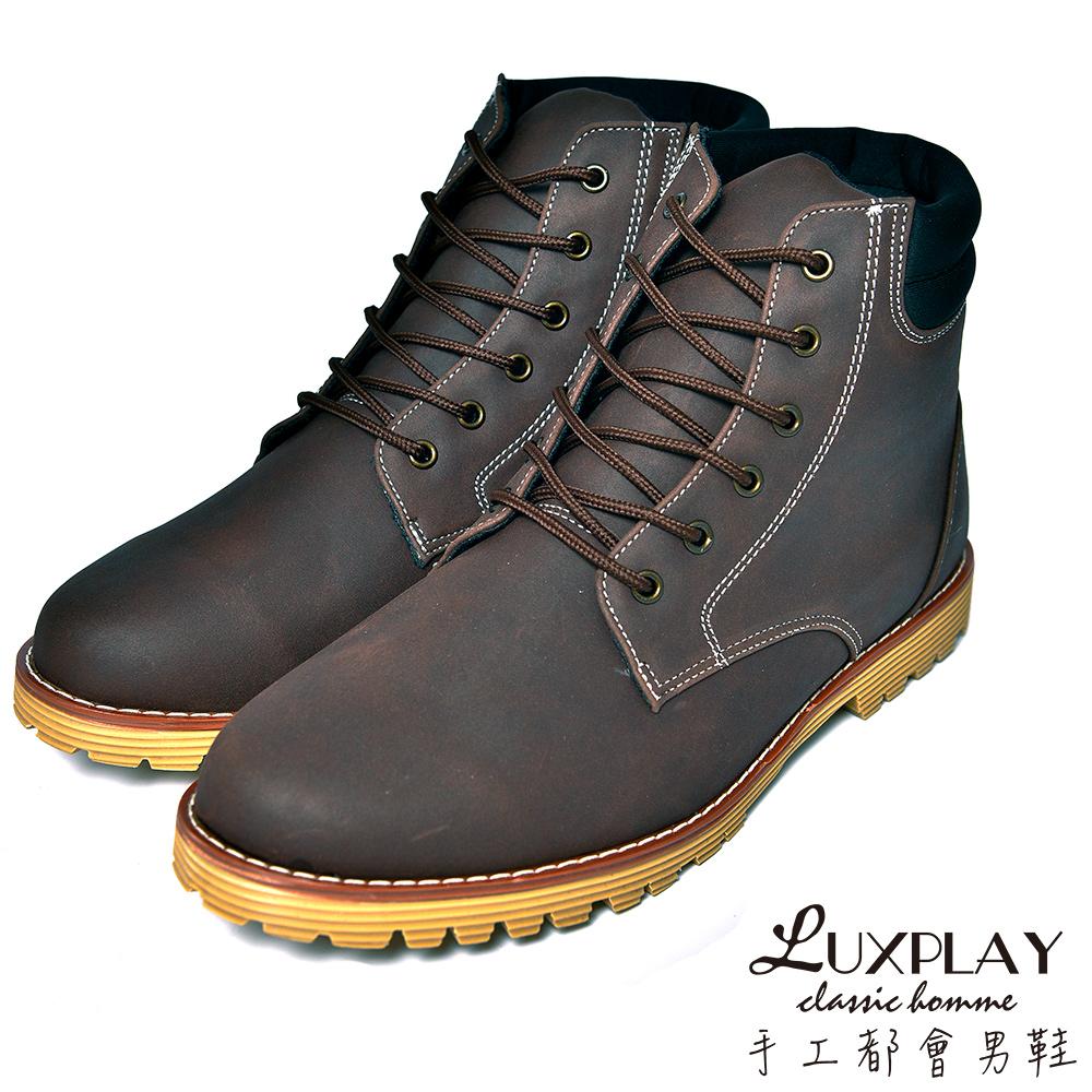 LUXPLAY  男款 經典羊巴戈輕手感黃靴 CF920咖啡 @ Y!購物
