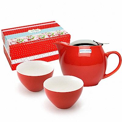 ZERO JAPAN 典藏陶瓷一壺兩杯超值禮盒組(蕃茄紅)