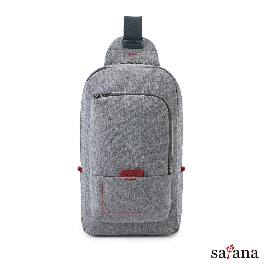 satana - Fresh 輕職人機能斜肩包 - 麻花灰