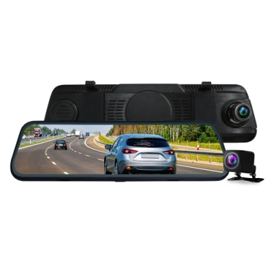 CARSCAM行車王 CR14全螢幕電子式觸控1080P後視鏡行車記錄器-加16G記憶卡