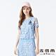 MYVEGA麥雪爾 海軍織帶蕾絲上衣-水藍 product thumbnail 1