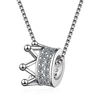 Angel 派對女王皇冠鋯石短款鎖骨項鍊2色可選