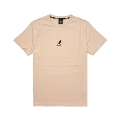 Kangol T恤 Printed Tee 運動休閒 男款 袋鼠 圓領 基本款 棉質 穿搭推薦 米 黑 6021101131