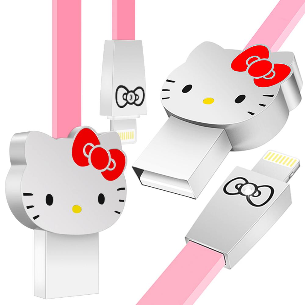 iStyle Lightning 8Pin Hello Kitty 經典大頭傳輸線